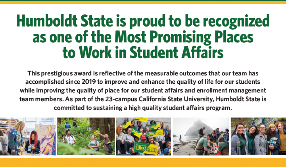 We are proud to be recognized as one of the Most Promising Places to Work in Student Affairs.